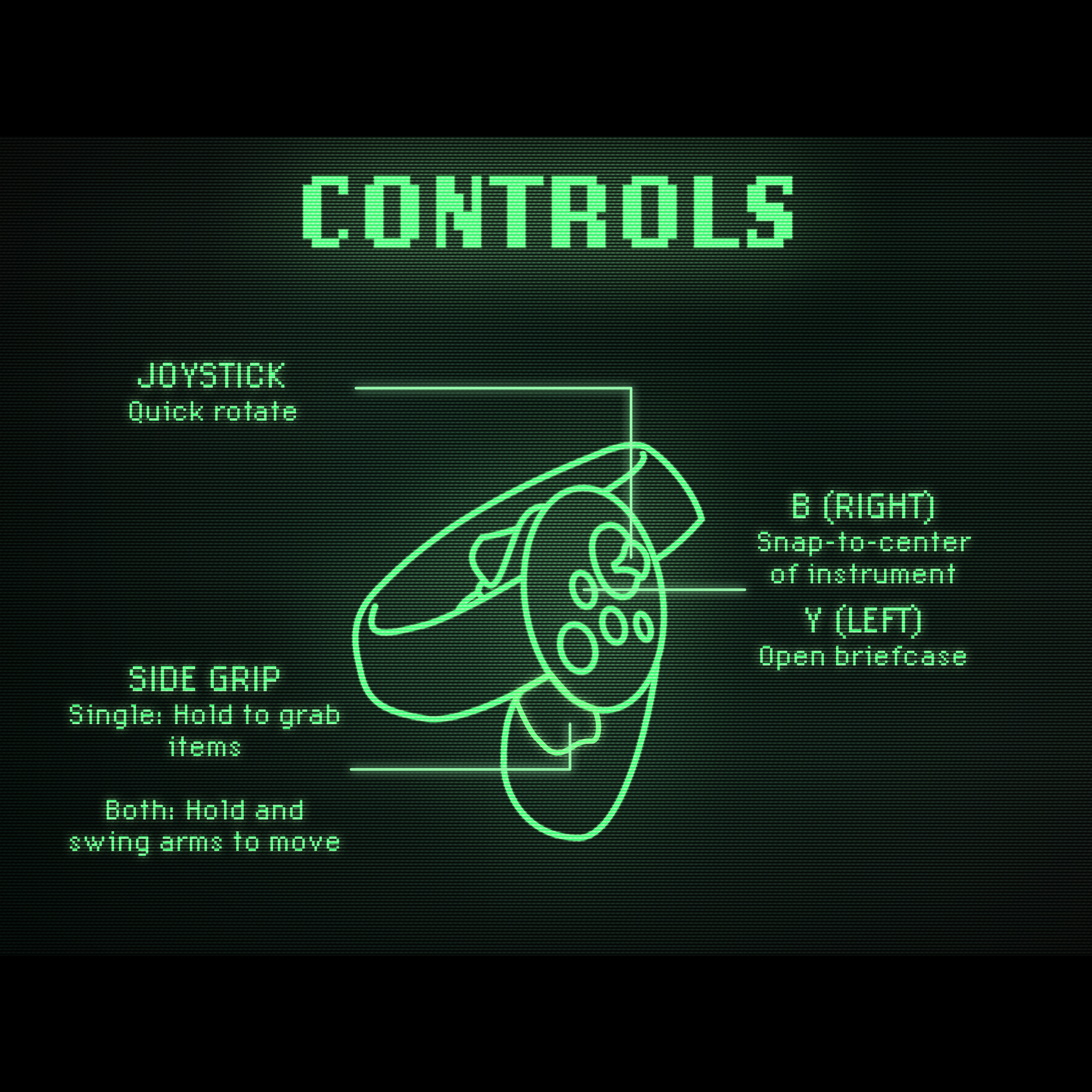 A diagram showing what each button on the Oculus Touch controllers does